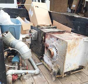 Hauling Away Old Boiler
