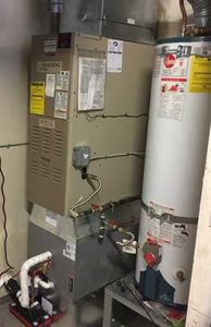 New Ac Coil Installed Below Gas Furnace Orting Wa