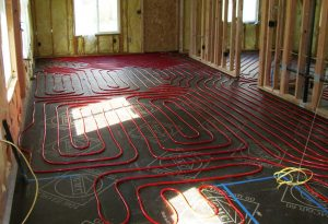 Radiant Tubing Waiting For Overpour